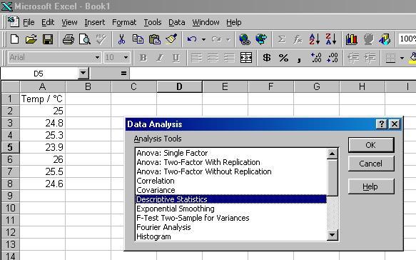 PChem Teaching Lab   Excel 3